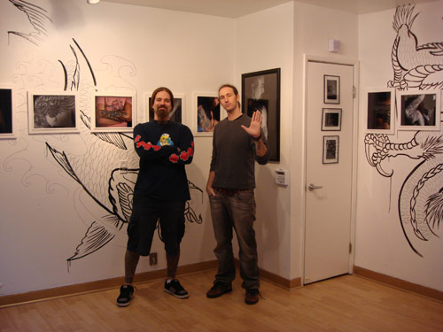 "Daniel Mandell @ the Opening of his ""Tattoo Portraits"" Exhibition"